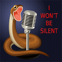 snake yelling into microphone